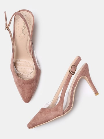 DressBerry Women Pink Textured Pumps DressBerry Heels at myntra