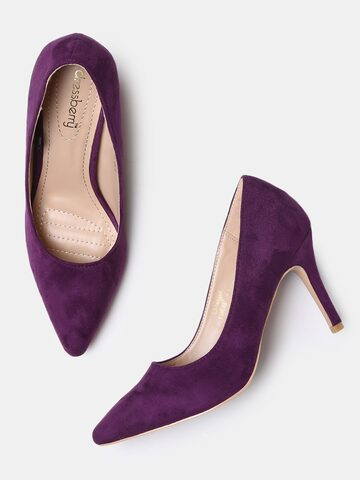 DressBerry Women Purple Solid Pumps DressBerry Heels at myntra