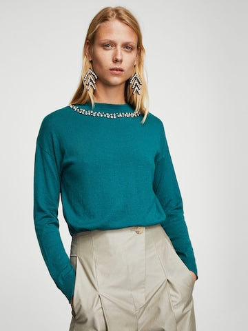 MANGO Women Green Solid Sweater MANGO Sweaters at myntra