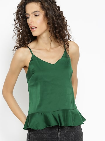 MANGO Women Green Solid A-Line Top MANGO Tops at myntra