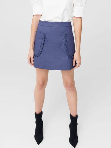 MANGO Navy Mini Skirt with Frills MANGO Skirts at myntra