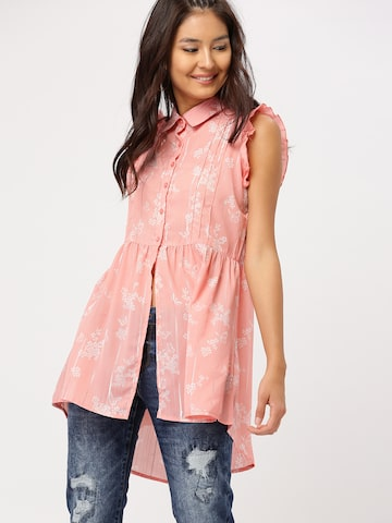 DressBerry Women Pink Printed Shirt Style Top DressBerry Tops at myntra
