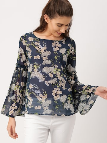 DressBerry Women Navy Printed Top DressBerry Tops at myntra