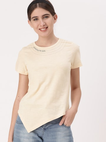 1b35129ea66 DressBerry Women Peach-Coloured Solid Round Neck T-shirt DressBerry Tshirts  from myntra in