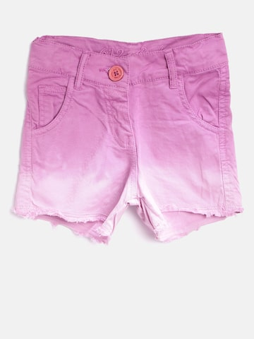 612 league Girls Pink Ombre-Dyed Denim Shorts 612 league Shorts at myntra
