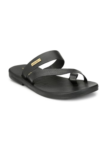 Alberto Torresi Men Black Solid Slip-On Alberto Torresi Flip Flops at myntra