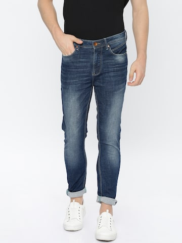 United Colors of Benetton Men Blue Regular Fit Mid-Rise Clean Look Stretchable Jeans United Colors of Benetton Jeans at myntra