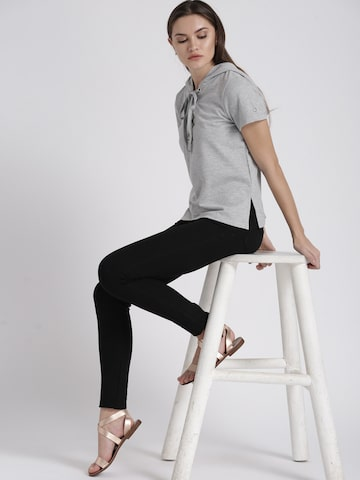 Chemistry Women Grey Solid Top Chemistry Tops at myntra