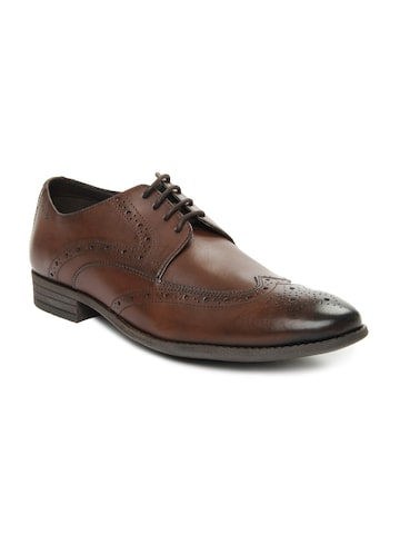 Clarks Men Brown Leather Brogues Clarks Formal Shoes at myntra