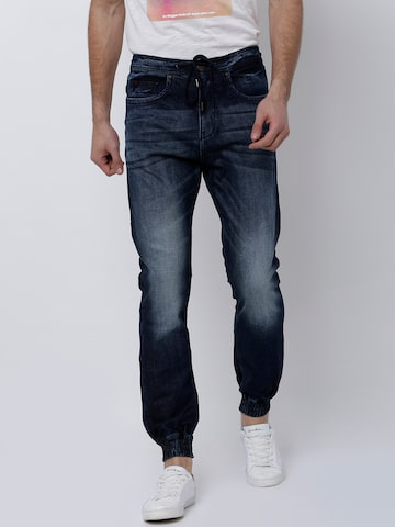 LOCOMOTIVE Men Blue Jogger Mid-Rise Clean Look Stretchable Jeans LOCOMOTIVE Jeans at myntra