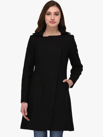 Owncraft Women Black Solid Wool Coat Owncraft Coats at myntra