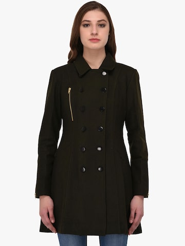 Owncraft Olive Longline Peacoat Owncraft Coats at myntra