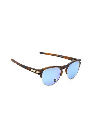 OAKLEY Men Mirrored Polarised Oval Sunglasses 0OO939493940755-93940755 OAKLEY Sunglasses at myntra