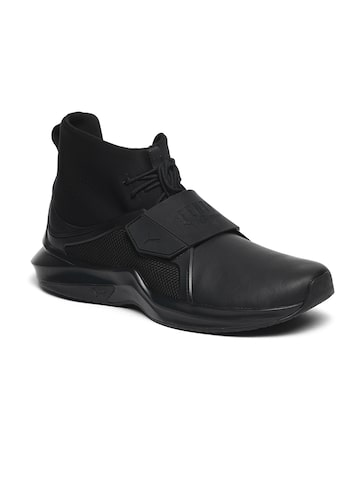 Puma Unisex Black Synthetic High-Top Running Shoes Speed IGNITE NETFIT Wn Puma Sports Shoes at myntra