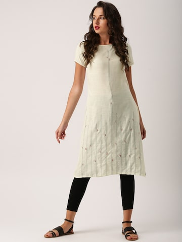 IMARA by Shraddha Kapoor Off-White Embroidered Tunic IMARA Tunics at myntra
