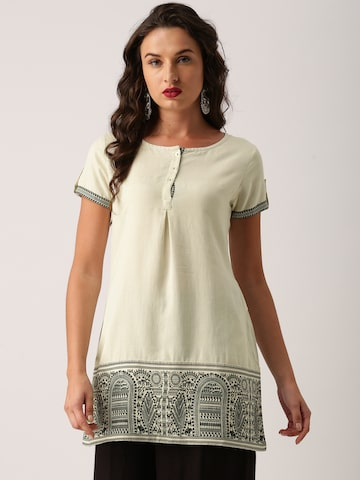 IMARA by Shraddha Kapoor Off-White Printed Tunic IMARA Tunics at myntra