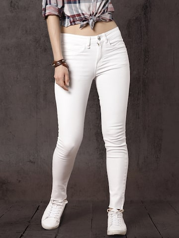 Roadster Women White Regular Fit Mid-Rise Clean Look Stretchable Jeans Roadster Jeans at myntra
