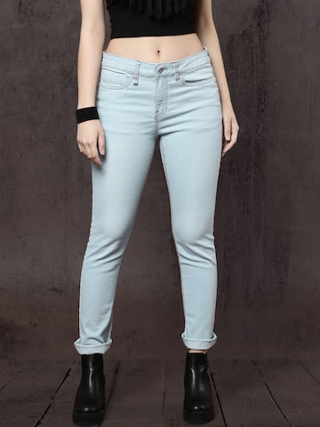 Roadster Women Blue Straight Fit Mid-Rise Clean Look Stretchable Jeans Roadster Jeans at myntra