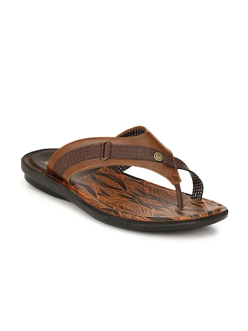 Alberto Torresi Men Tan Solid Slip-On Alberto Torresi Flip Flops at myntra