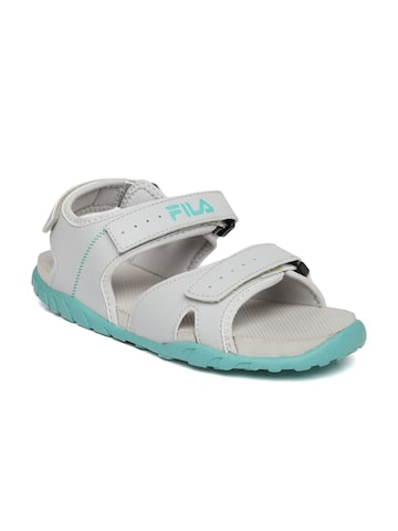 FILA Women Grey Burk Sports Sandals FILA Sports Sandals at myntra