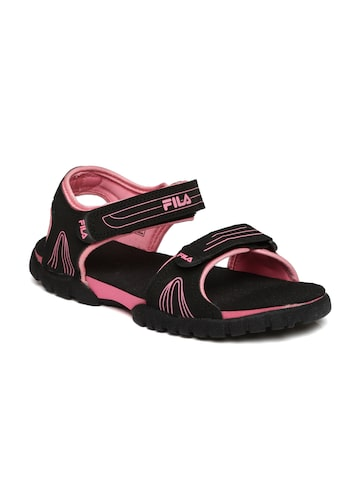 FILA Women Black FRON Sports Sandals FILA Sports Sandals at myntra