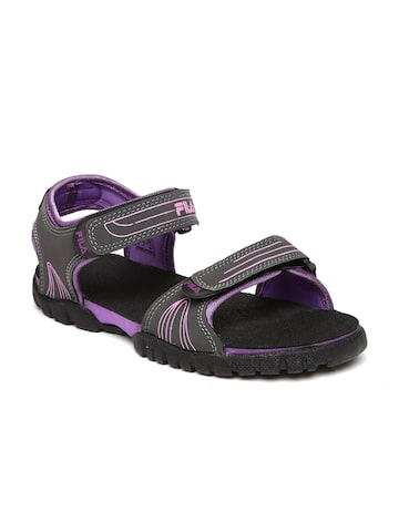 FILA Women Charcoal Grey FRON Sports Sandals FILA Sports Sandals at myntra