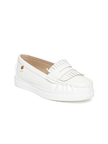 Carlton London Women Off-White Loafers Carlton London Casual Shoes at myntra