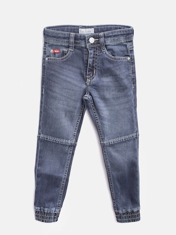Lee Cooper Boys Navy Blue Comfort Fit Mid-Rise Clean Look Stretchable Jogg Jeans Lee Cooper Jeans at myntra