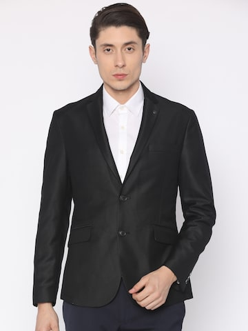 V Dot Black Single-Breasted Formal Blazer V Dot Blazers at myntra