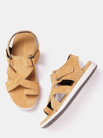 Roadster Men Brown Comfort Sandals Roadster Sandals at myntra