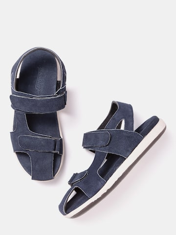 Roadster Men Navy Blue Comfort Sandals Roadster Sandals at myntra