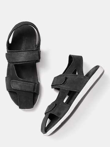 Roadster Men Black Comfort Sandals Roadster Sandals at myntra