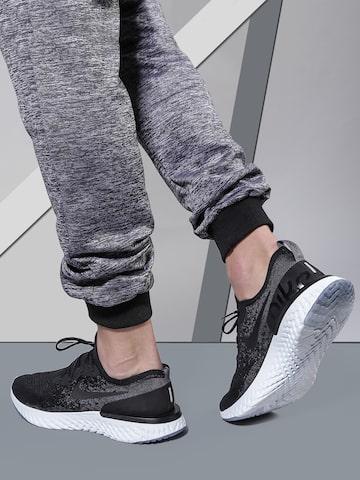 Nike Men Black EPIC REACT FLYKNIT Running Shoes Nike Sports Shoes at myntra