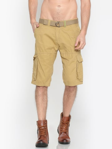 Sports52 wear Men Beige Solid Regular Fit Cargo Shorts Sports52 wear Shorts at myntra