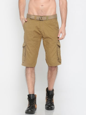 Sports52 wear Men Khaki Solid Cargo Shorts Sports52 wear Shorts at myntra