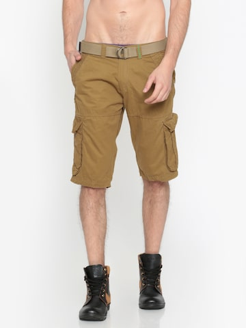 Sports52 wear Men Khaki Solid Regular Fit Cargo Shorts Sports52 wear Shorts at myntra