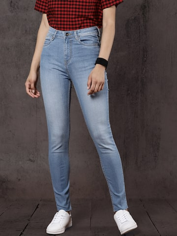 Roadster Women Blue Regular Fit Mid-Rise Clean Look Stretchable Jeans Roadster Jeans at myntra