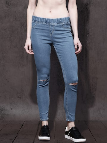 Roadster Women Blue Stretchable  Jeggings Roadster Jeggings at myntra