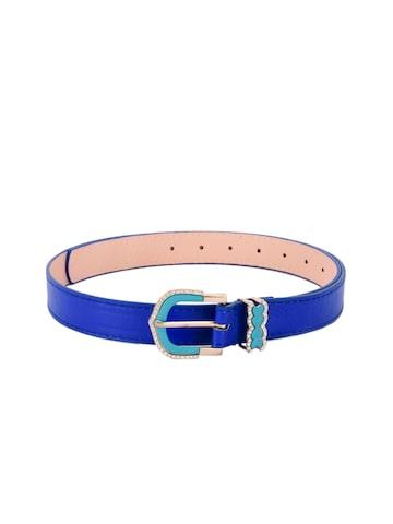 BuckleUp Women Blue Solid Belt BuckleUp Belts at myntra