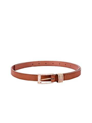 BuckleUp Women Brown Solid Belt BuckleUp Belts at myntra