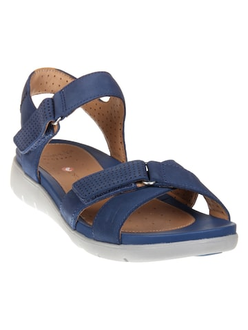 Clarks Women Navy Blue Comfort Sandals Clarks Sandals at myntra