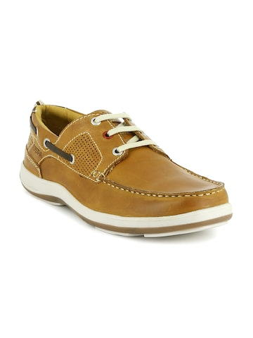 U.S. Polo Assn. Men Tan Derbys U.S. Polo Assn. Casual Shoes at myntra