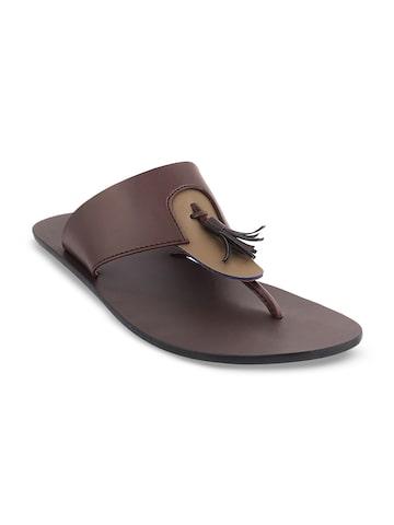 Mochi Men Brown Comfort Sandals Mochi Sandals at myntra