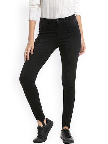 Vero Moda Black Jeggings Vero Moda Jeggings at myntra