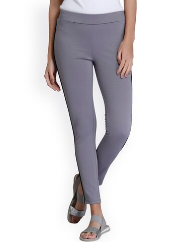 Vero Moda Grey Jeggings Vero Moda Jeggings at myntra