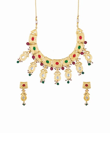 Sia Bridal Gold-Plated Jewellery Set Sia Art Jewellery Jewellery Set at myntra