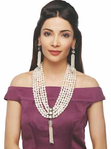 Sia Bridal Wear Off-White Jewellery Set Sia Art Jewellery Jewellery Set at myntra