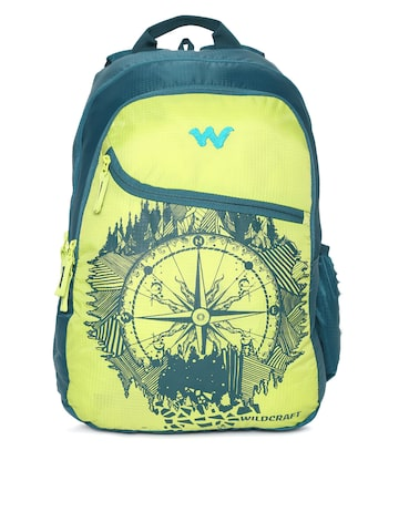 Wildcraft Unisex Blue & Green Graphic Backpack Wildcraft Backpacks at myntra
