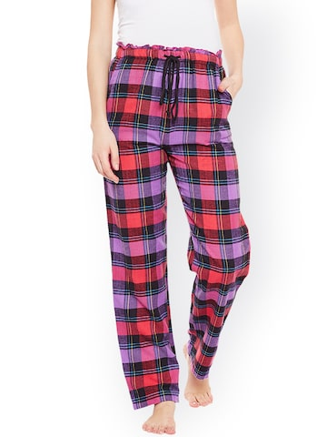 Oxolloxo Multicoloured Checked Pyjamas W17210WNW002 Oxolloxo Pyjamas at myntra
