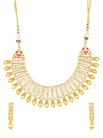 Sia Art Jewellery Gold-Toned Bridal Wear Embellished Jewellery Set Sia Art Jewellery Jewellery Set at myntra
